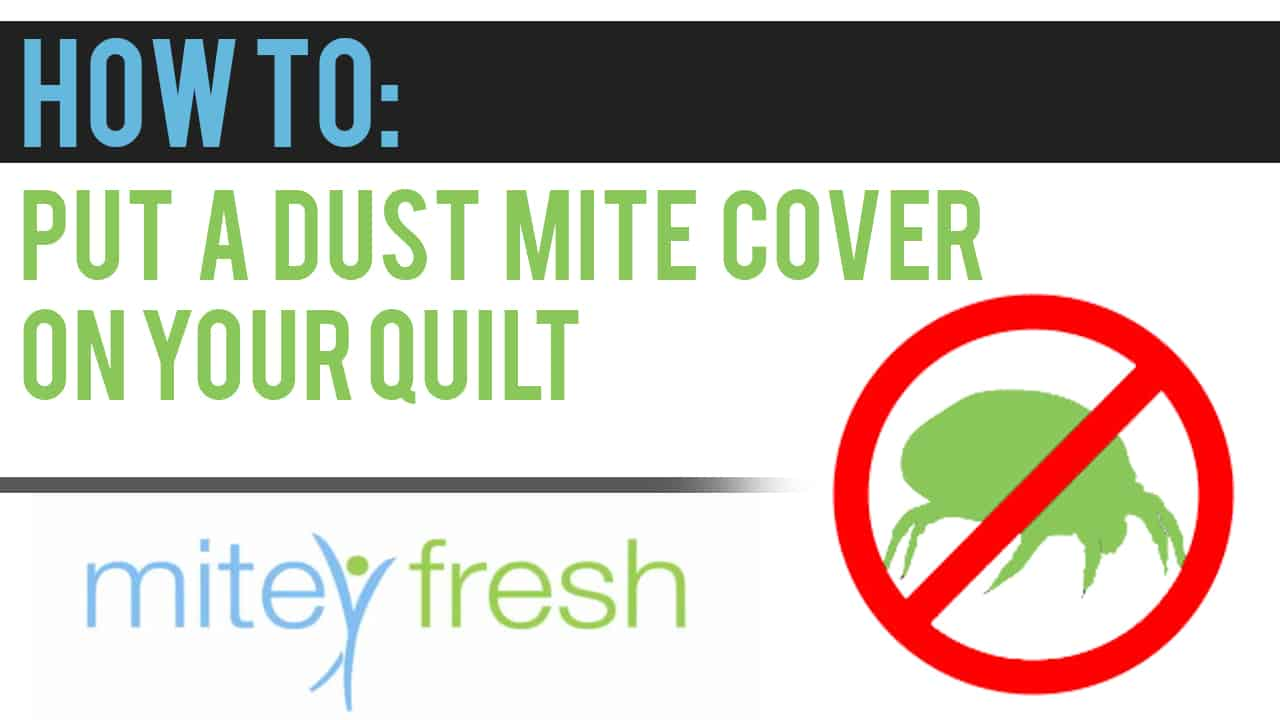How to Video Series – Dust Mite Cover onto Quilt